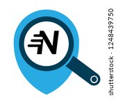 letter n and map pin. logo...