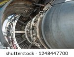 airplane engine disassembled... | Shutterstock . vector #1248447700