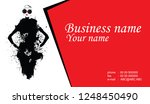 business cards with fashion... | Shutterstock .eps vector #1248450490