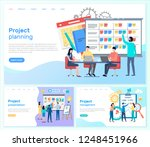 project planning and... | Shutterstock .eps vector #1248451966
