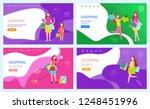 shopping sale women buying... | Shutterstock .eps vector #1248451996