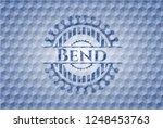 bend blue hexagon badge.   Shutterstock .eps vector #1248453763