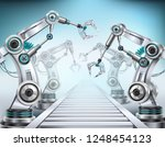 fully automated production line ... | Shutterstock .eps vector #1248454123
