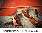 detail of felled spruce trunk... | Shutterstock . vector #1248457933