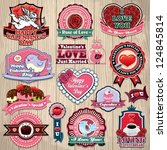 vintage frame with valentines... | Shutterstock .eps vector #124845814