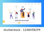 voting elections landing page... | Shutterstock .eps vector #1248458299