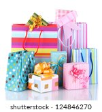 Bright Gift Bags And Gifts...