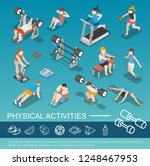 isometric people in gym... | Shutterstock .eps vector #1248467953