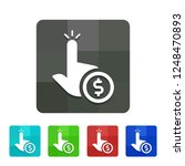 pay per click   app icon | Shutterstock .eps vector #1248470893
