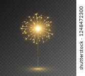 sparkler firework isolated on... | Shutterstock .eps vector #1248472300