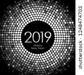 vector   happy new year 2019  ... | Shutterstock .eps vector #1248474703