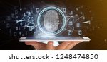 view of a businessman holding a ...   Shutterstock . vector #1248474850