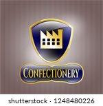 golden emblem or badge with... | Shutterstock .eps vector #1248480226