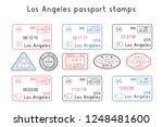passport stamps. los angeles ... | Shutterstock . vector #1248481600