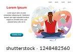 balance in multitask work ... | Shutterstock .eps vector #1248482560