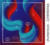 3d abstract flow fluid shapes.... | Shutterstock .eps vector #1248483466