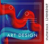 3d abstract flow fluid shapes.... | Shutterstock .eps vector #1248483469