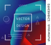 3d abstract flow fluid shapes.... | Shutterstock .eps vector #1248483493