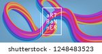 abstract flow fluid shapes.... | Shutterstock .eps vector #1248483523