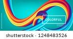 3d abstract flow fluid shapes.... | Shutterstock .eps vector #1248483526