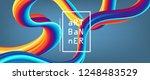 3d abstract flow fluid shapes.... | Shutterstock .eps vector #1248483529