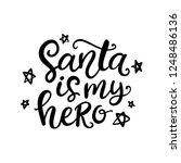 christmas ink hand lettering....   Shutterstock . vector #1248486136