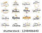 set of merry christmas and 2019 ... | Shutterstock .eps vector #1248486640