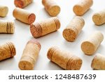 wine bottle corks decorated... | Shutterstock . vector #1248487639