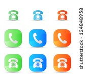 vector old phone icons | Shutterstock .eps vector #124848958