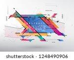 artistic covers design.... | Shutterstock .eps vector #1248490906