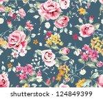classic wallpaper seamless... | Shutterstock .eps vector #124849399