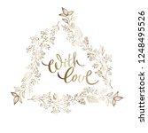 hand drawn elegant triangular...   Shutterstock .eps vector #1248495526