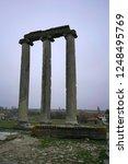 columns and wall of zeus temple ... | Shutterstock . vector #1248495769