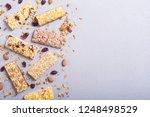 healthy homemade snacks... | Shutterstock . vector #1248498529