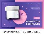 vector 3d realistic cosmetic... | Shutterstock .eps vector #1248504313