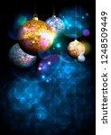 christmas disco balls... | Shutterstock . vector #1248509449