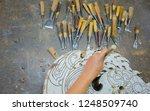 handmade craftsman's work carve ... | Shutterstock . vector #1248509740