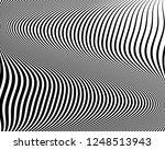 optical art background. wave... | Shutterstock .eps vector #1248513943