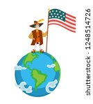 happy columbus day poster with... | Shutterstock .eps vector #1248514726
