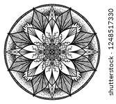 hand drawn vector  flower... | Shutterstock .eps vector #1248517330