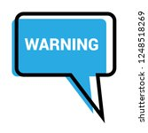 warning sign label.warning... | Shutterstock .eps vector #1248518269