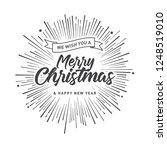 merry christmas vector text... | Shutterstock .eps vector #1248519010