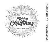 merry christmas vector text... | Shutterstock .eps vector #1248519043