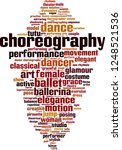 choreography word cloud concept.... | Shutterstock .eps vector #1248521536