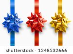 set of bright colorful satin... | Shutterstock .eps vector #1248532666