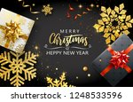 merry christmas and happy new... | Shutterstock .eps vector #1248533596