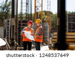 construction manager and... | Shutterstock . vector #1248537649