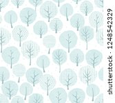 forest seamless pattern with... | Shutterstock .eps vector #1248542329