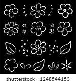 chalk cartoon hand drawn summer ...   Shutterstock . vector #1248544153