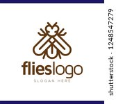 flies line art logo vector... | Shutterstock .eps vector #1248547279